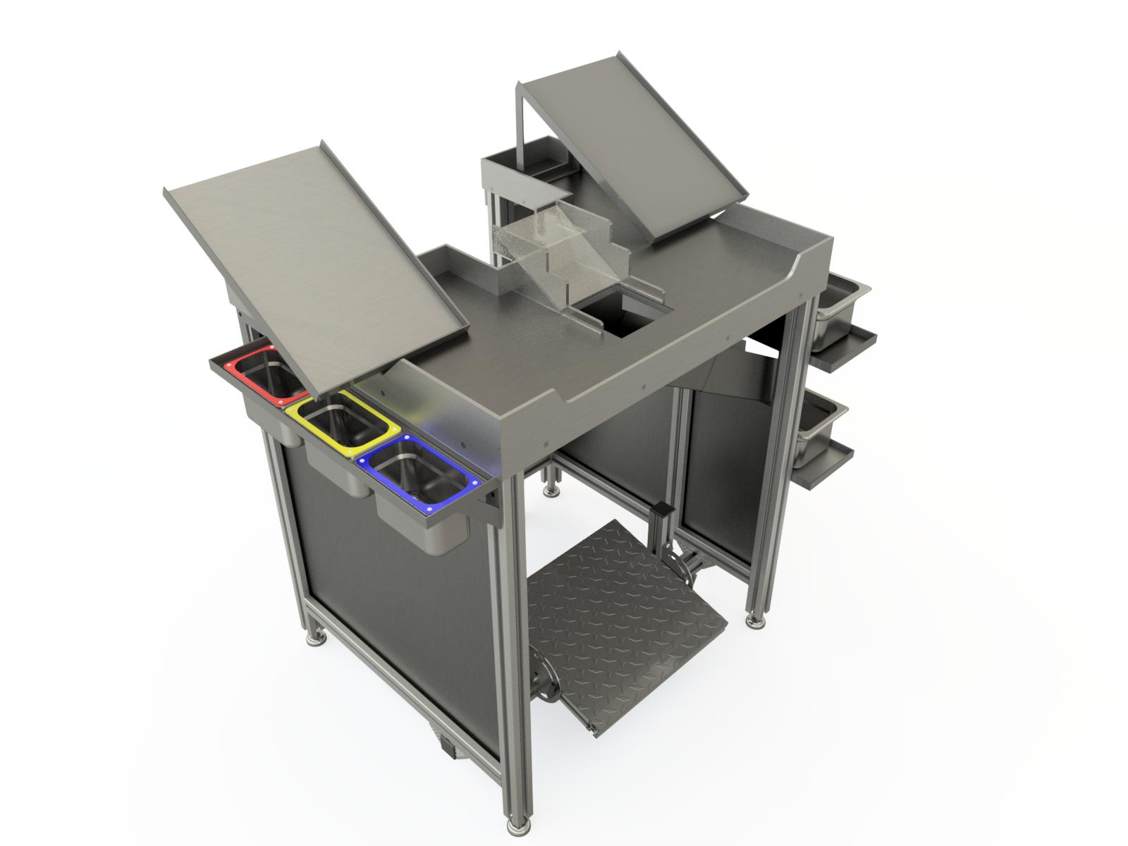 mesas industriales de trabajo